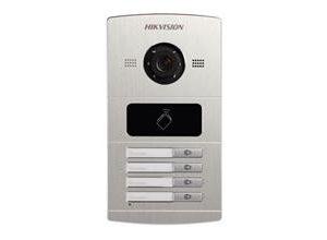 HIKVISION>> DS-KV8402-IM- Plaque de rue Extérieure avec caméra couleur 4-Boutons