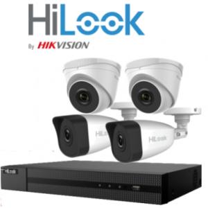 HILOOK>> Kit Vidéosurveillance HD (2 Dômes +2Tubes + DVR4) 2 MP