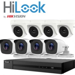 HILOOK>> Kit Vidéosurveillance HD (4 Dômes +4Tubes + DVR8) 2 MP