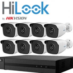 HILOOK>> Kit Vidéosurveillance HD (8 Tubes + DVR8) 3 MP